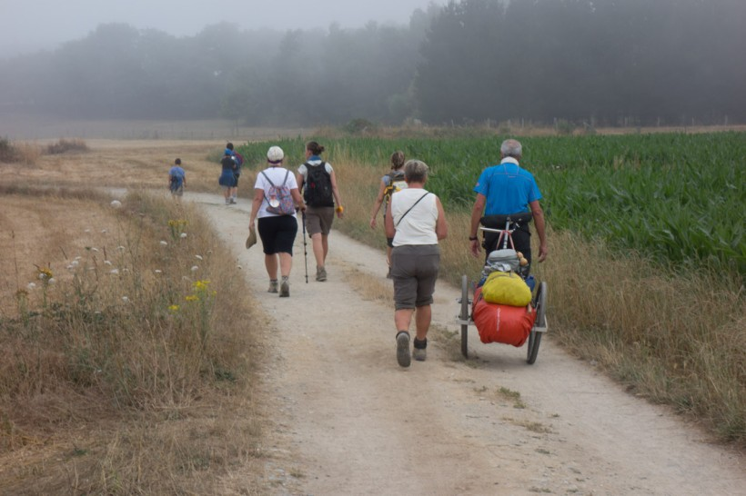 There are all sorts of pilgrims travelling in a myriad of ways