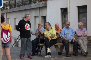 Old men having a great laugh and time together
