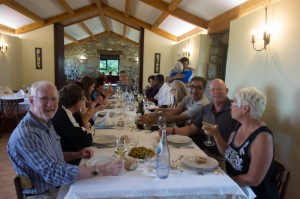 Dinner at Pazo De Sedor, all of us together
