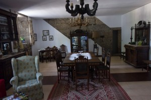 Formal dining of Pazo De Santiago