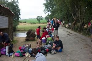 Many youth along the camino