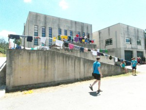 All the youth on the camino finally had to do laundry
