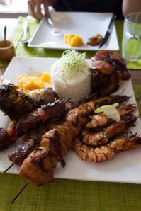 Lunch we shared at an African restaurant ~superb! Until next time...  à bientôt