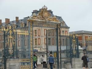 Entering through the blue gates