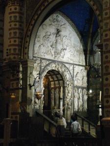 Entrance into the abbey