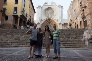 Rick, myself, Marta & Salvador in front of the Cathedral of Tarragona