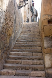Wherever you encounter history and old places there are stairs and there is no avoiding them!