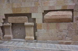 Hebrew and Christian tombs, side by side