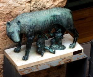 Romulus & Remus: the entrance to the museum